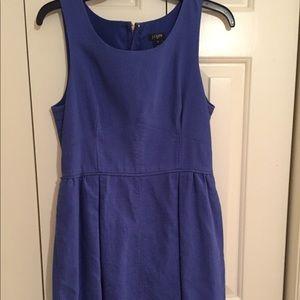 J. Crew royal blue lined sleeveless cotton dress